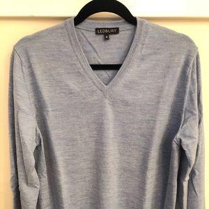 Ledbury Light Blue V-Neck Sweater